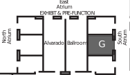 Map to Alvarado G ballroom