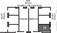 Map to Alvarado H ballroom